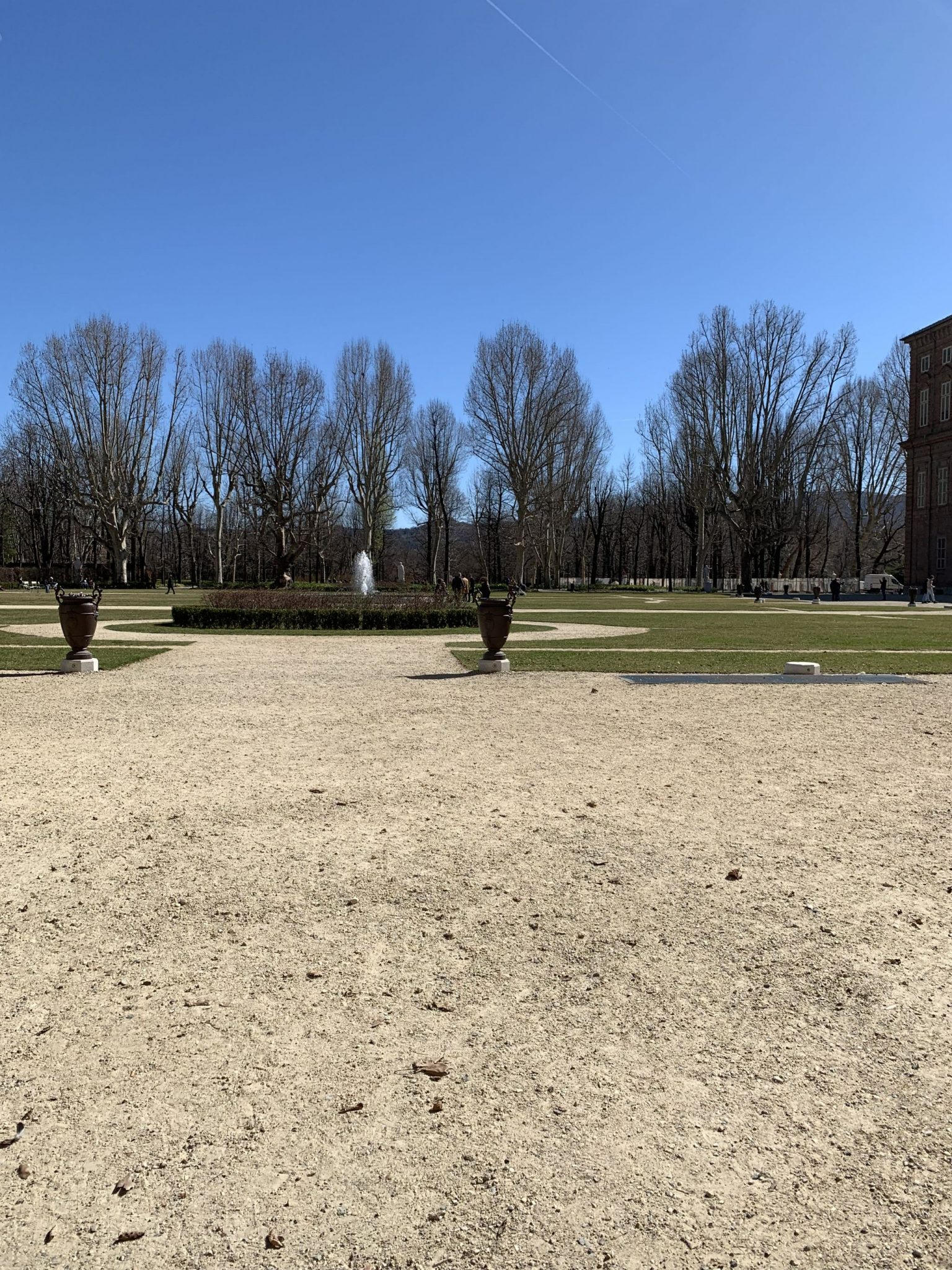 Royal Palace park in Turin