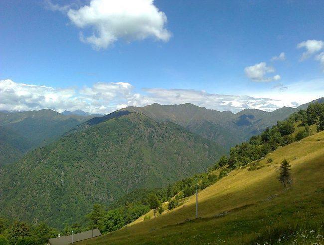 a relaxing mountain