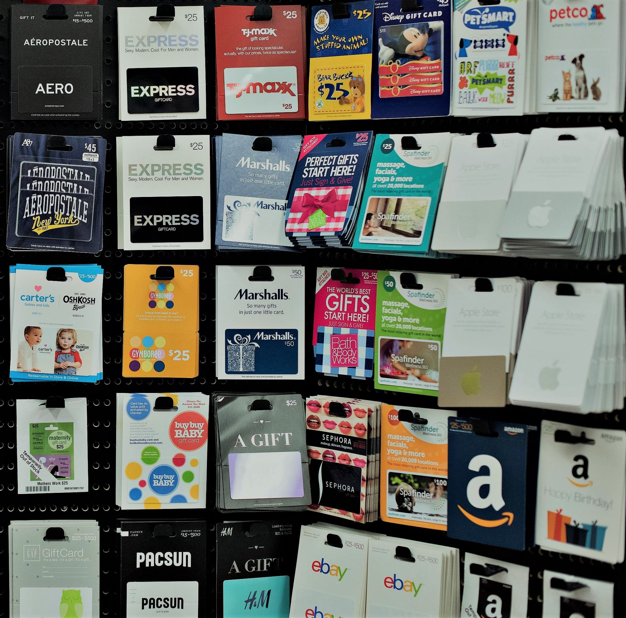1219 gift cards - What about gift cards for Christmas?