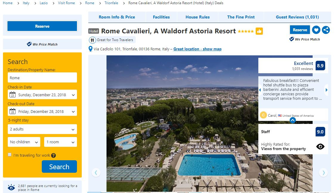 booking resort
