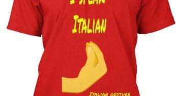 T-shirt: the Italian gestures