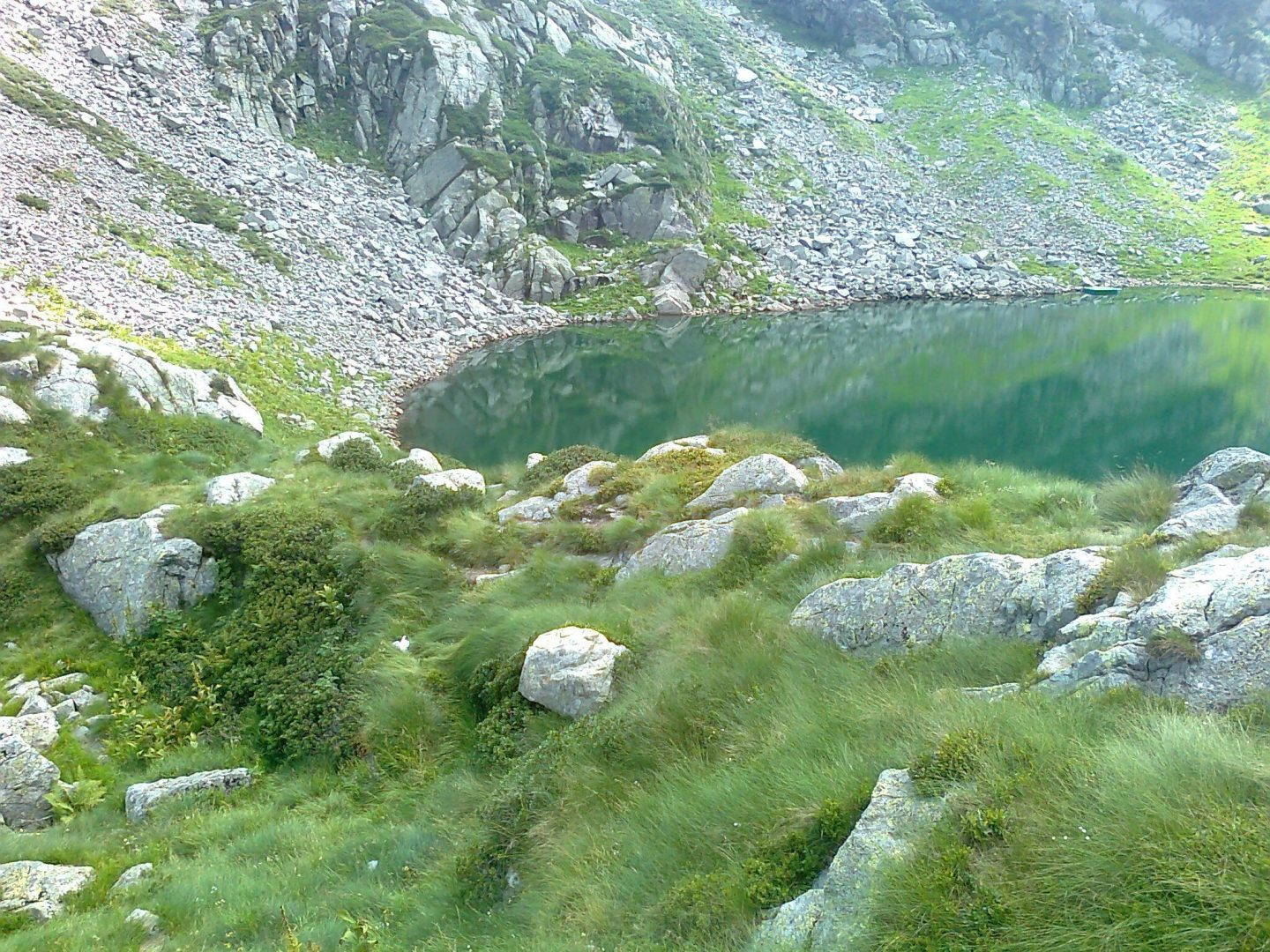 a lake in the mountains