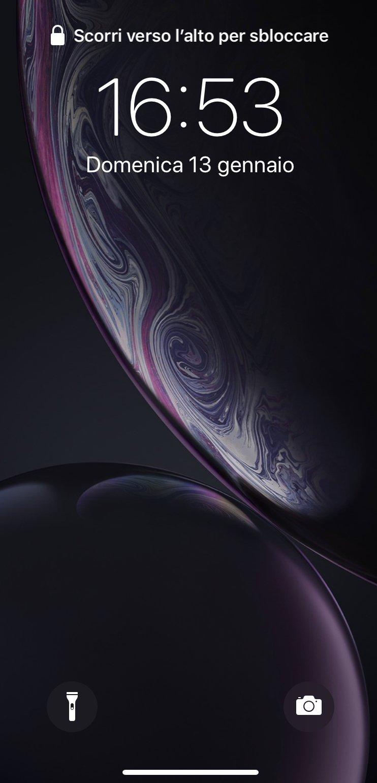 iPhone XR camera screen