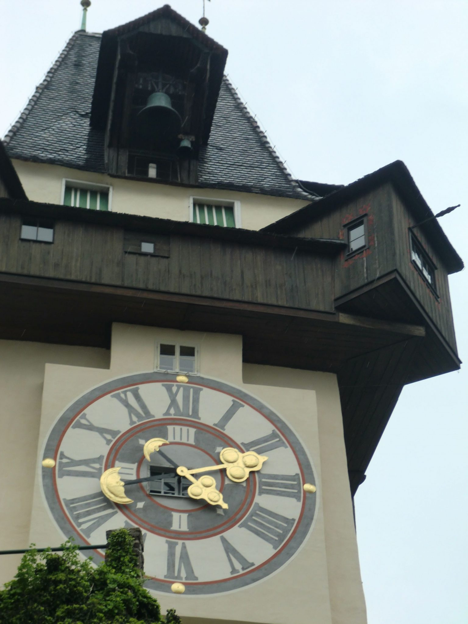 Graz clock tower 1 - Graz: tradition and modernity