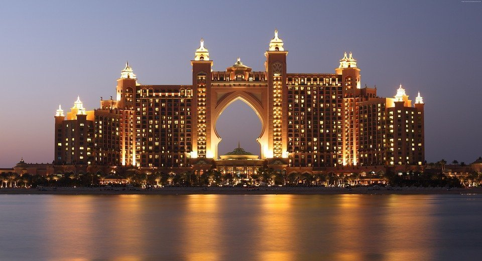 view of the hotel atlantis dubai