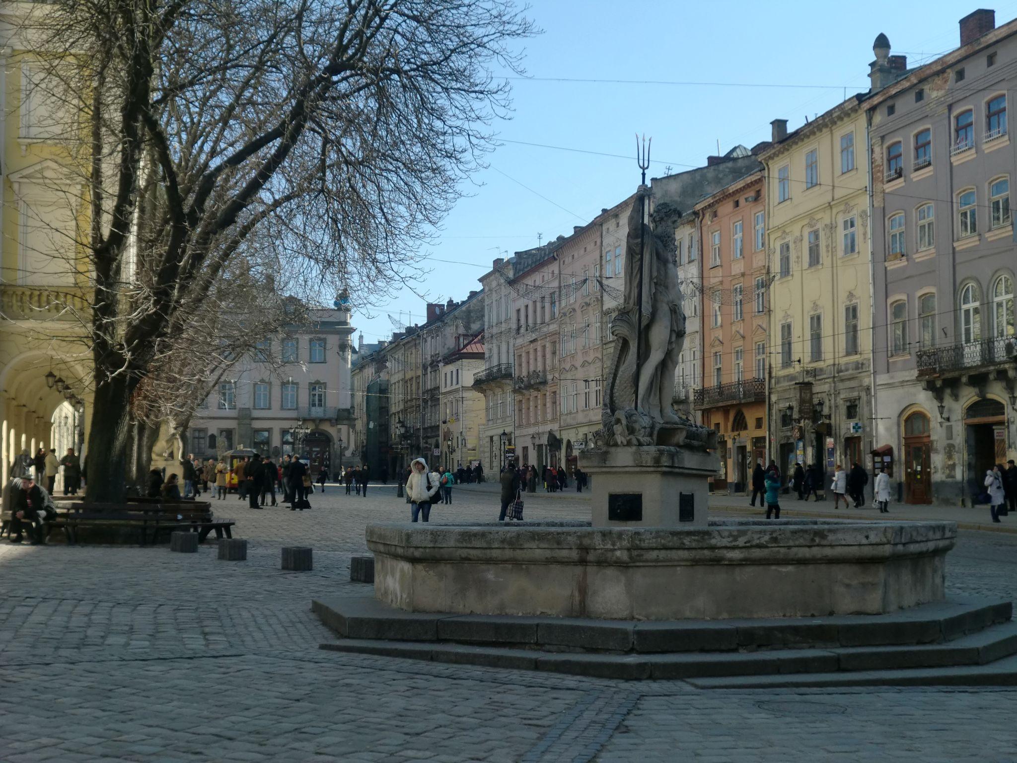 Lviv fountain - Lviv, the Ukrainian pearl