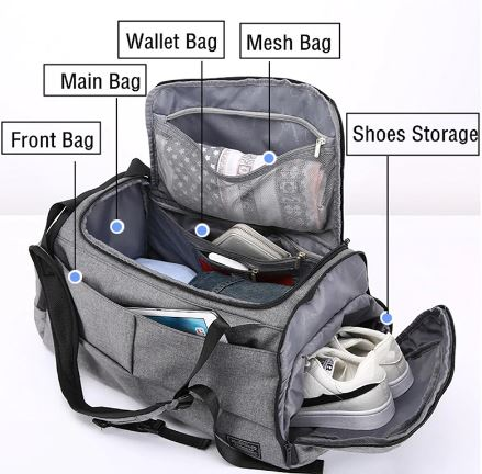 shoe compartment - Men luggage: 5 bestselling on AliExpress for awesome trips