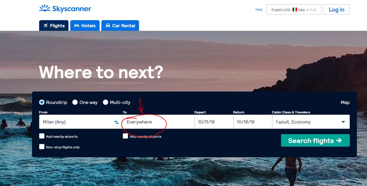 cheap skyscanner flights homepage - Cheap Skyscanner flights